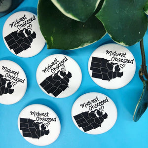 Midwest Obsessed Pinback Button