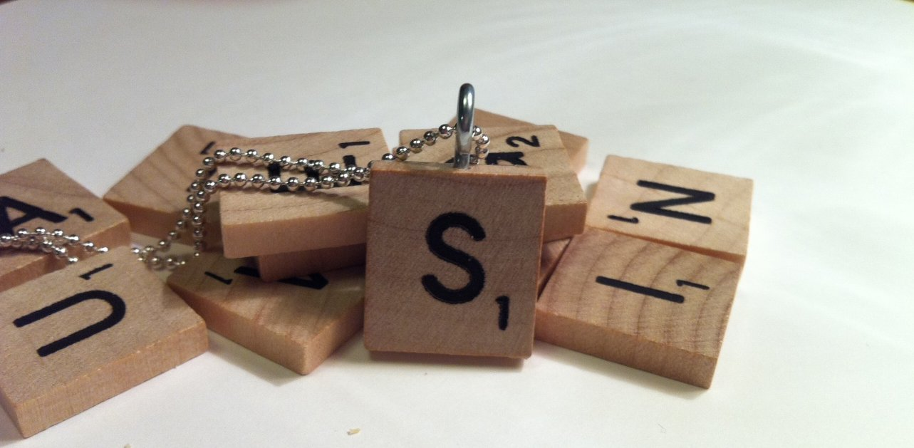 Myles Garrett Scrabble Tile Pendant With Silver Plated Ball Chain