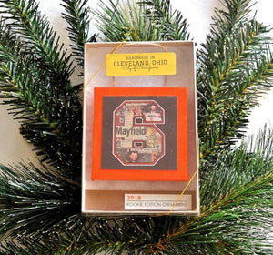 Cleveland Browns Baker Mayfield Rookie Edition Boxed Ornament