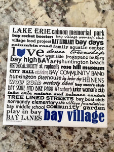Bay Village Handmade Coaster. Ohio Coaster.