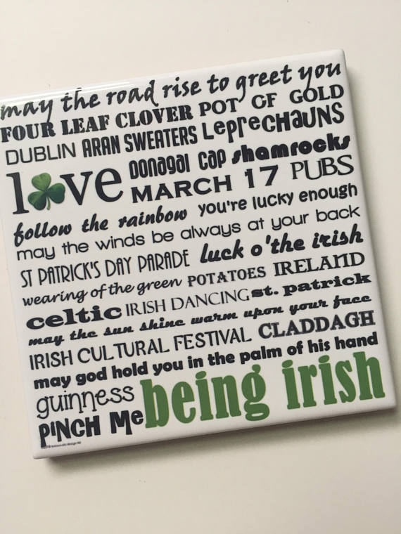 Irish Handmade Coaster. Cleveland, Ohio.
