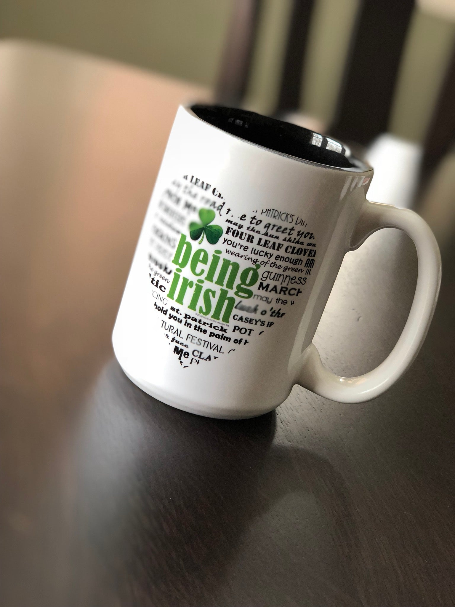 Irish Handmade Coffee Mug. Cleveland, Ohio.