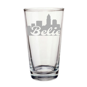 Believe Pint Glass. Cleveland, Ohio. Believeland