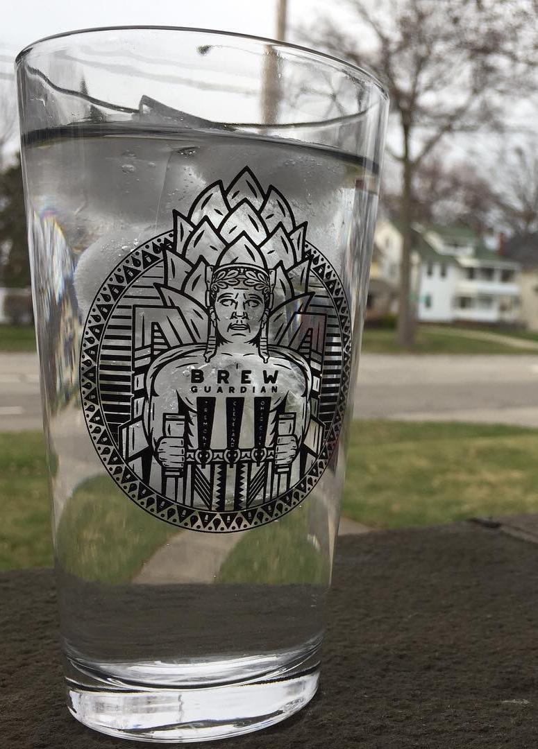 Cleveland Brew Guardian Pint Glass