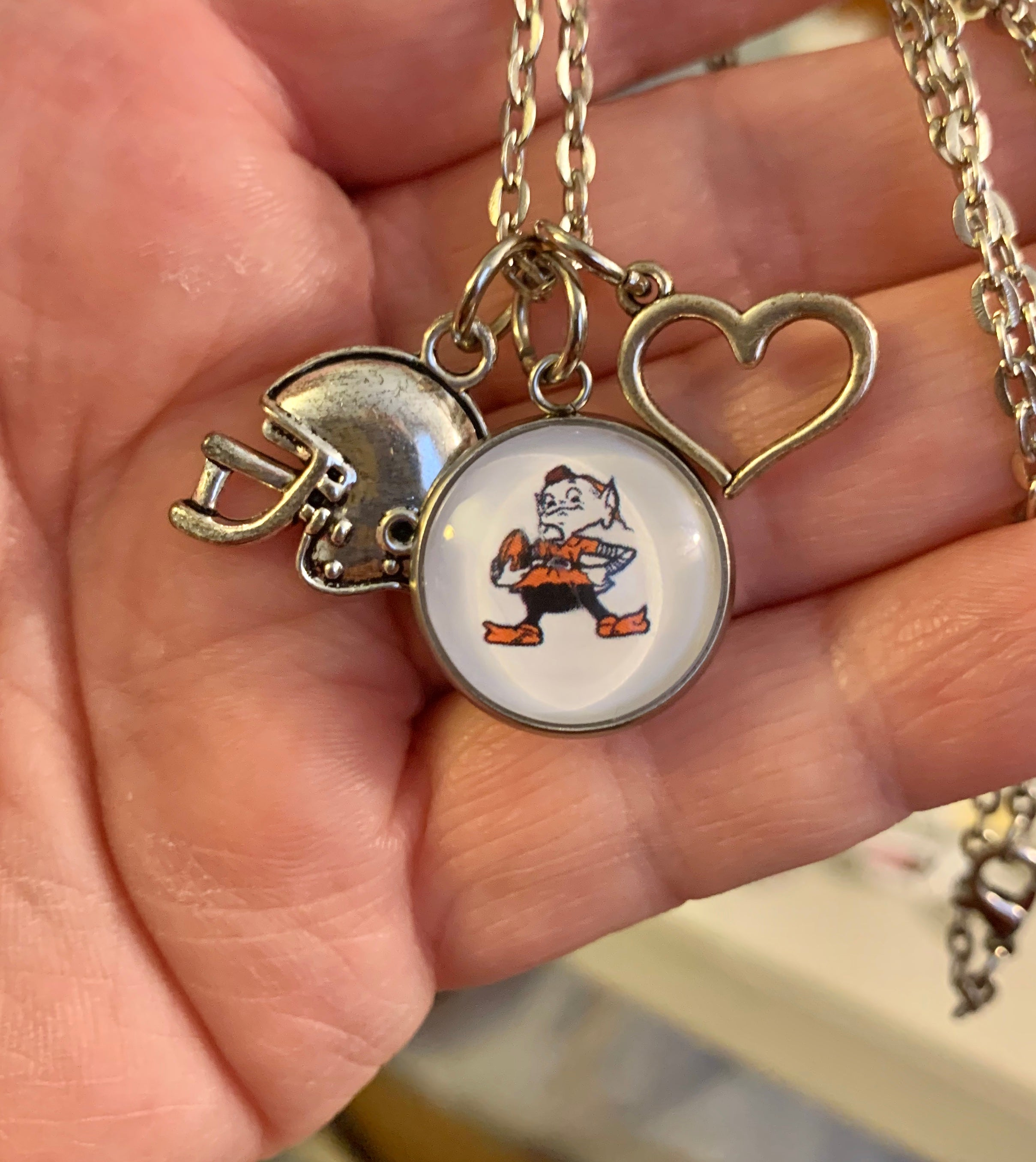 Cleveland Browns Brownie Charm Necklace