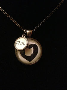 Heart Ohio Pendant with 216 Dangle Charm