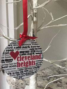 Cleveland Heights handmade Ornament.