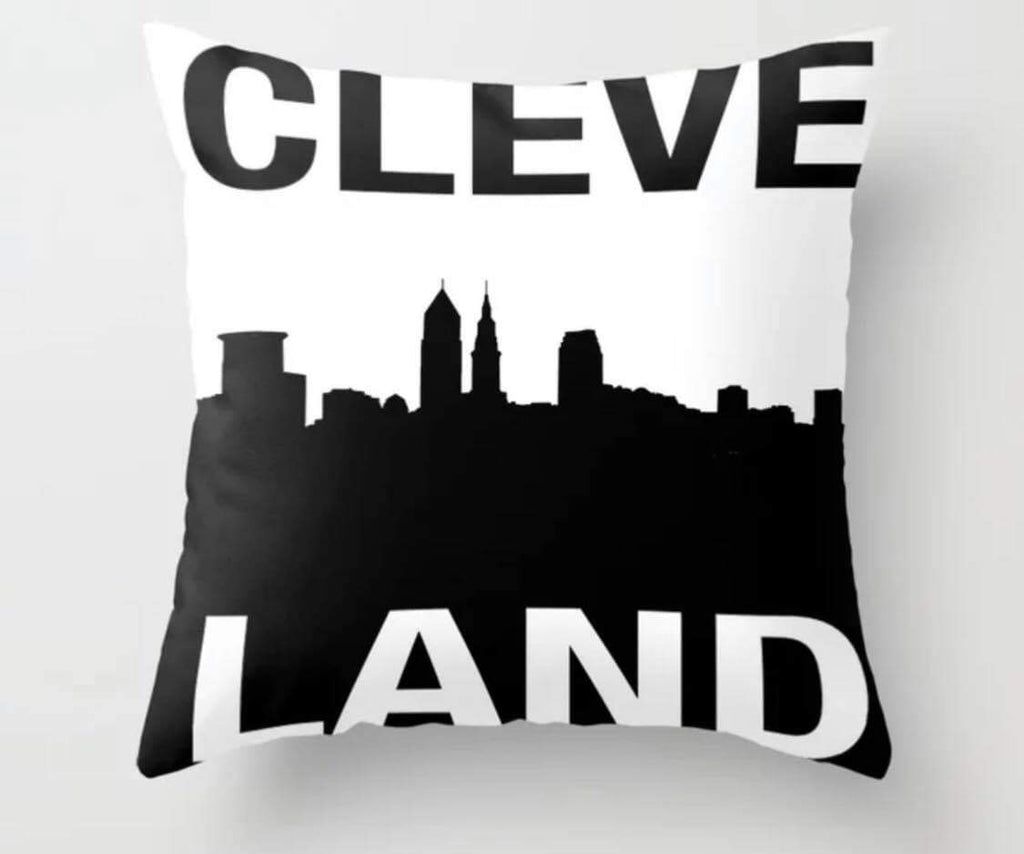 Cleveland Skyline Pillow