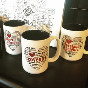 Coventry, Shaker Heights, and Cleveland Heights City Mug