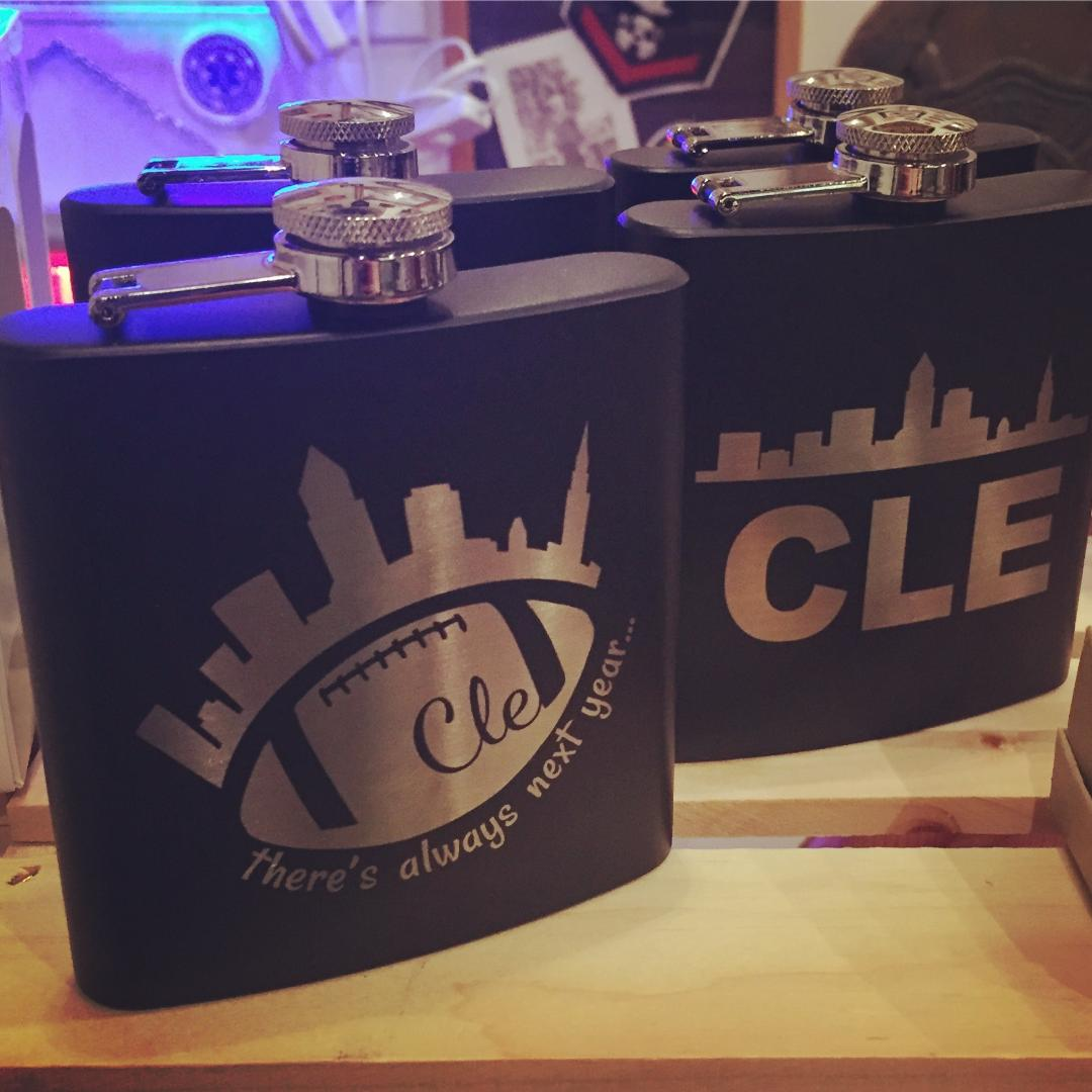 Cleveland Football Flasks