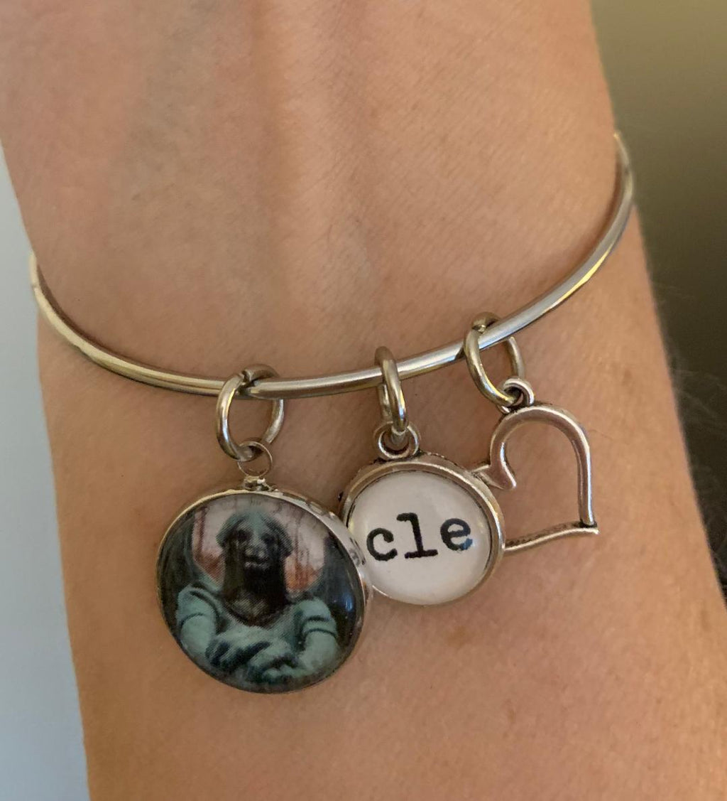 Haserot Angel Bangle Charm Bracelet