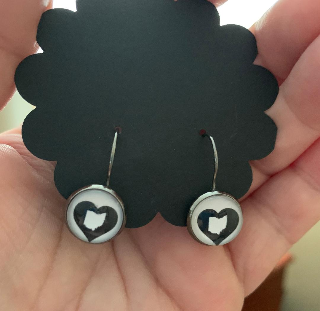Heart Ohio Pair Of Earrings