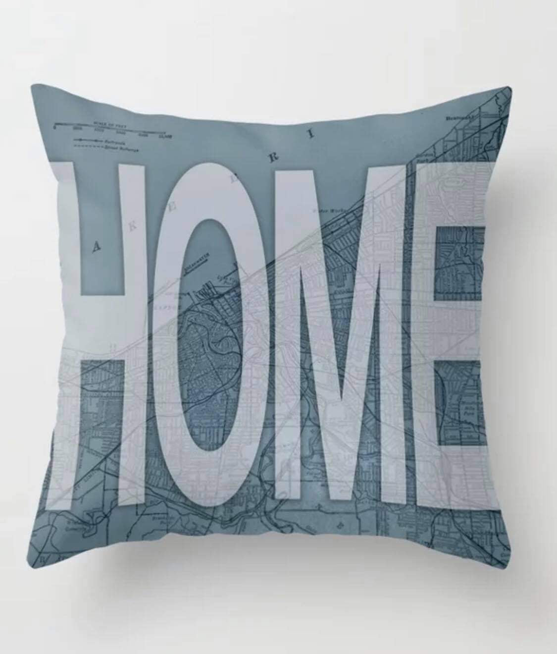 Home Map Pillow