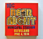 Cleveland Indians10 Cent Beer Night 8 X 8 Wood Print