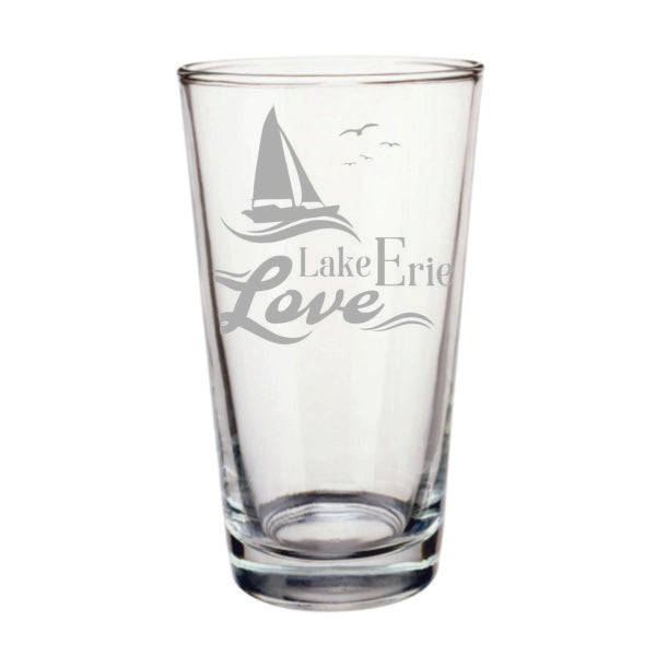 Lake Erie Love Pint Glass