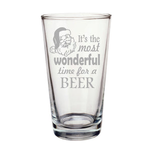 It's The Most Wonderful Time For A Beer Pint Glass