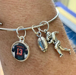Odell Beckham Jr Bangle Bracelet With Charms