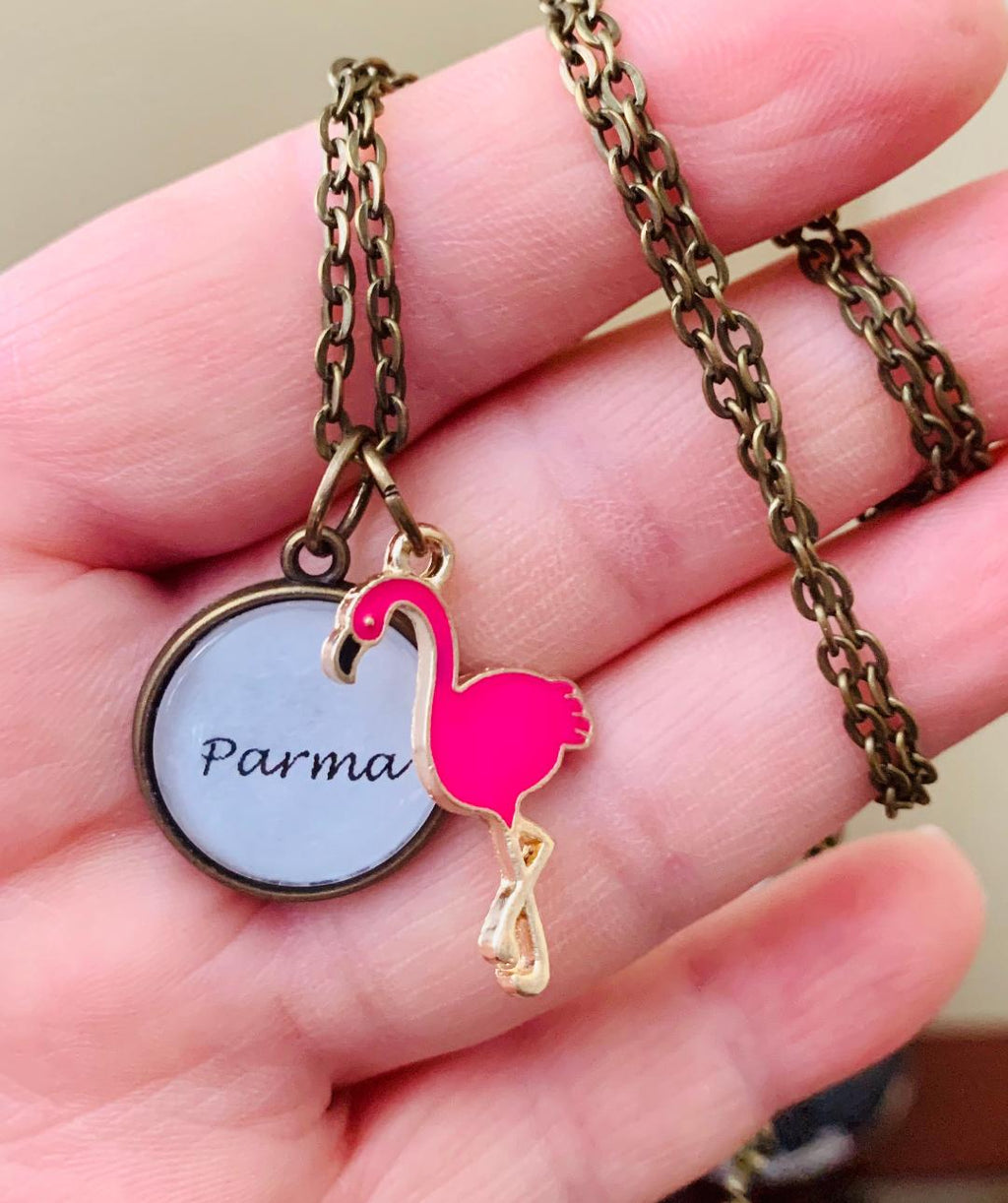 Parma Necklace With Flamingo Charm