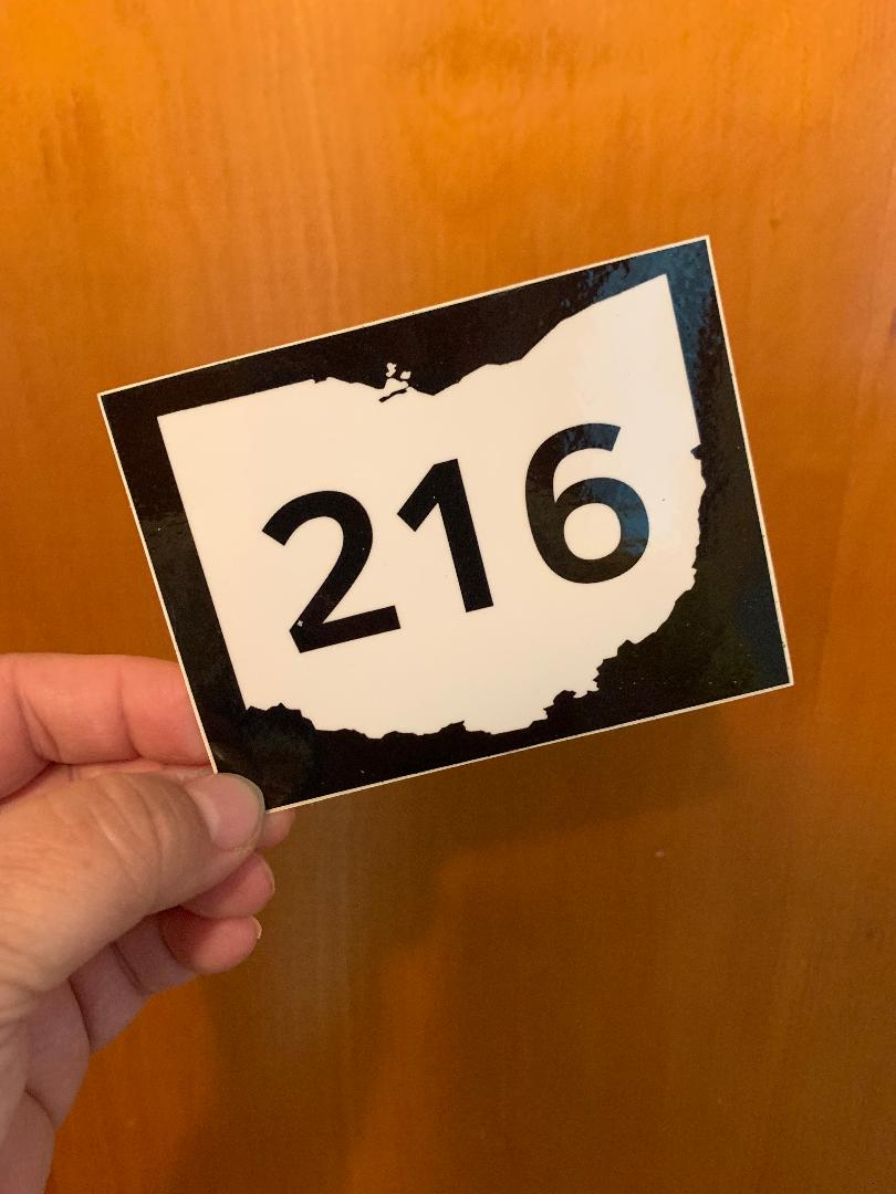Ohio Route 216 Sticker
