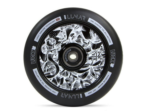 LUCKY LUNAR™ 110MM PRO SCOOTER WHEEL Axis Black/Black sold as a PAIR