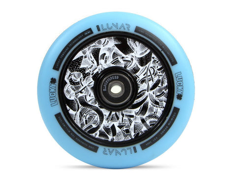 LUCKY LUNAR™ 110MM PRO SCOOTER WHEEL Axis Black/Teal