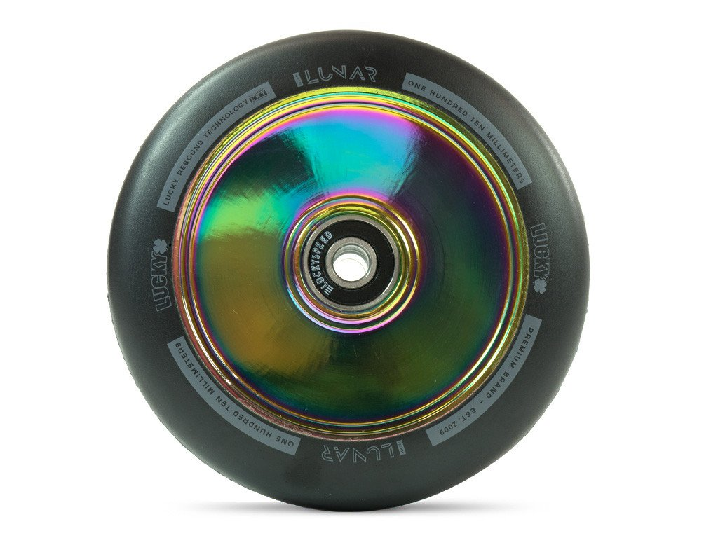 LUCKY LUNAR™ 110MM PRO SCOOTER WHEEL NeoChrome sold as a PAIR