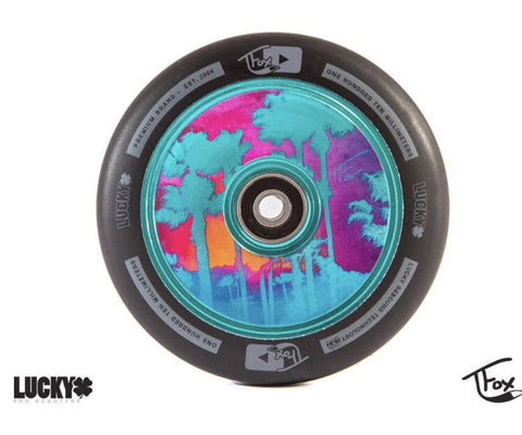 TFOX SIGNATURE SCOOTER WHEEL 110MM (TEAL) SOLD AS A PAIR