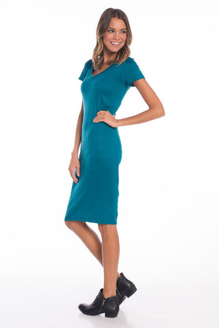 Brooke V Neck T Shirt Dress