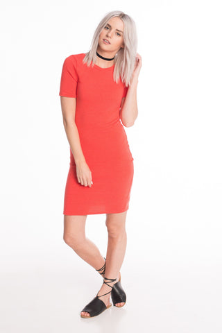 Pull Some Strings Coral Dress