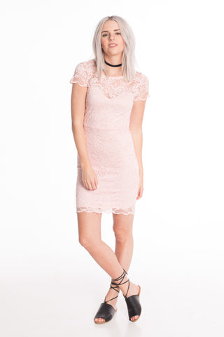 Poppy Pink Lace Dress