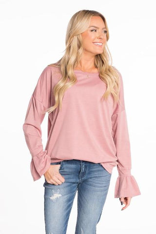 Long Bird Ruffle Top