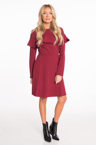 Holiday Ruffle Dress
