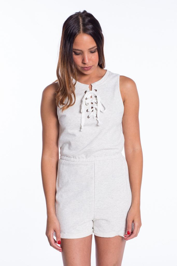 Romper - Lucy Lace Up Romper