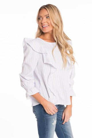 Late Blossom Ruffle Top