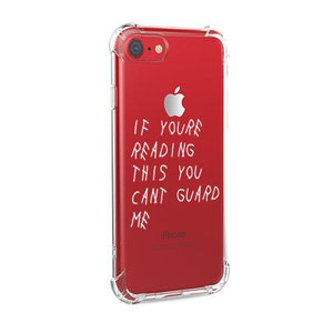 You can't guard me (White) iPhone Case