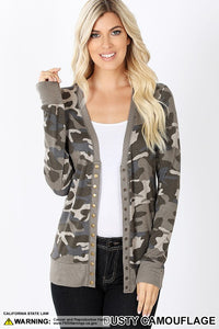 Dusty Camo Cardigan