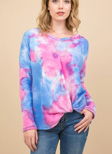 Rochelle french terry tie dye top
