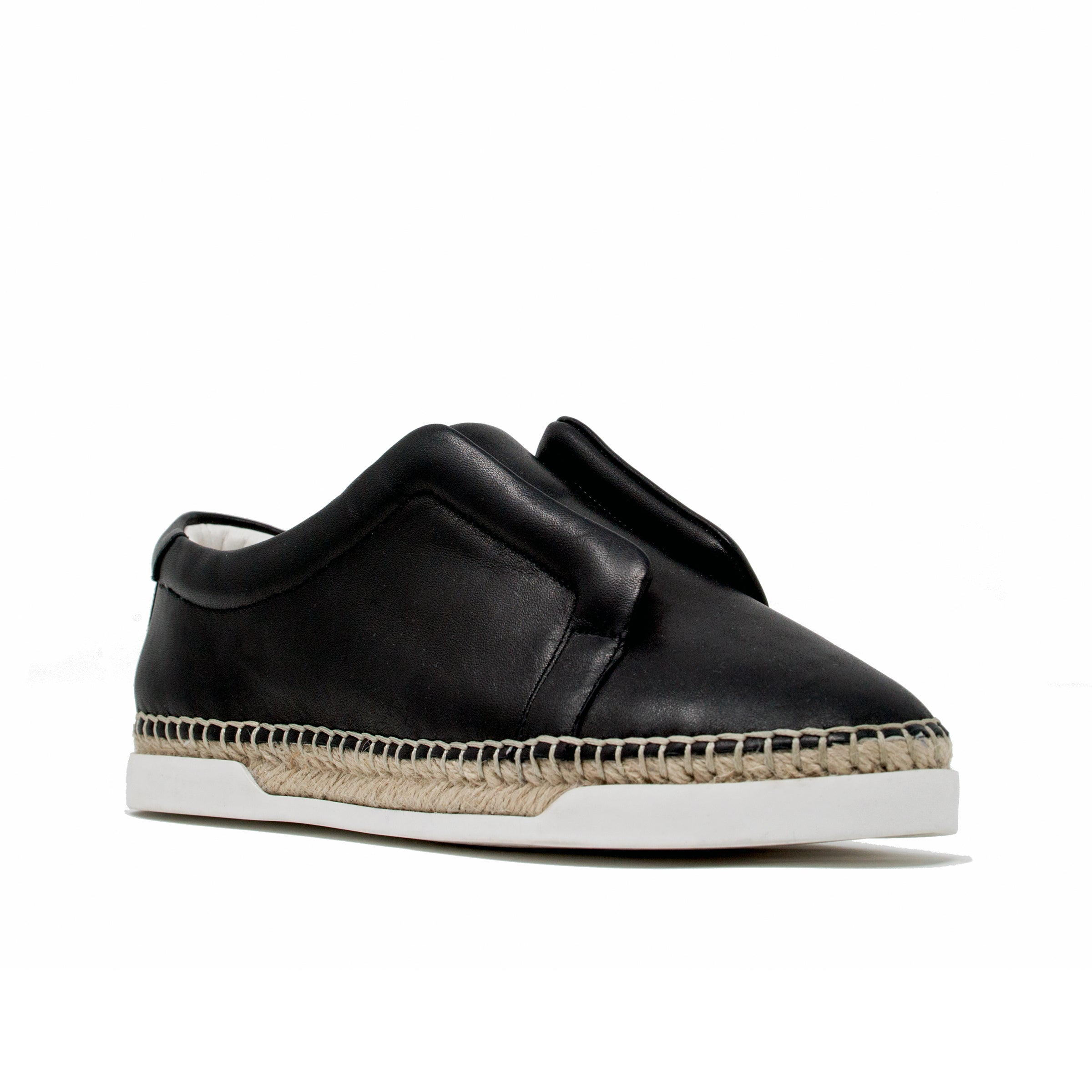 M4d3 Elizabeth Black Leather Espadrille Sneaker M4d3 Shoes