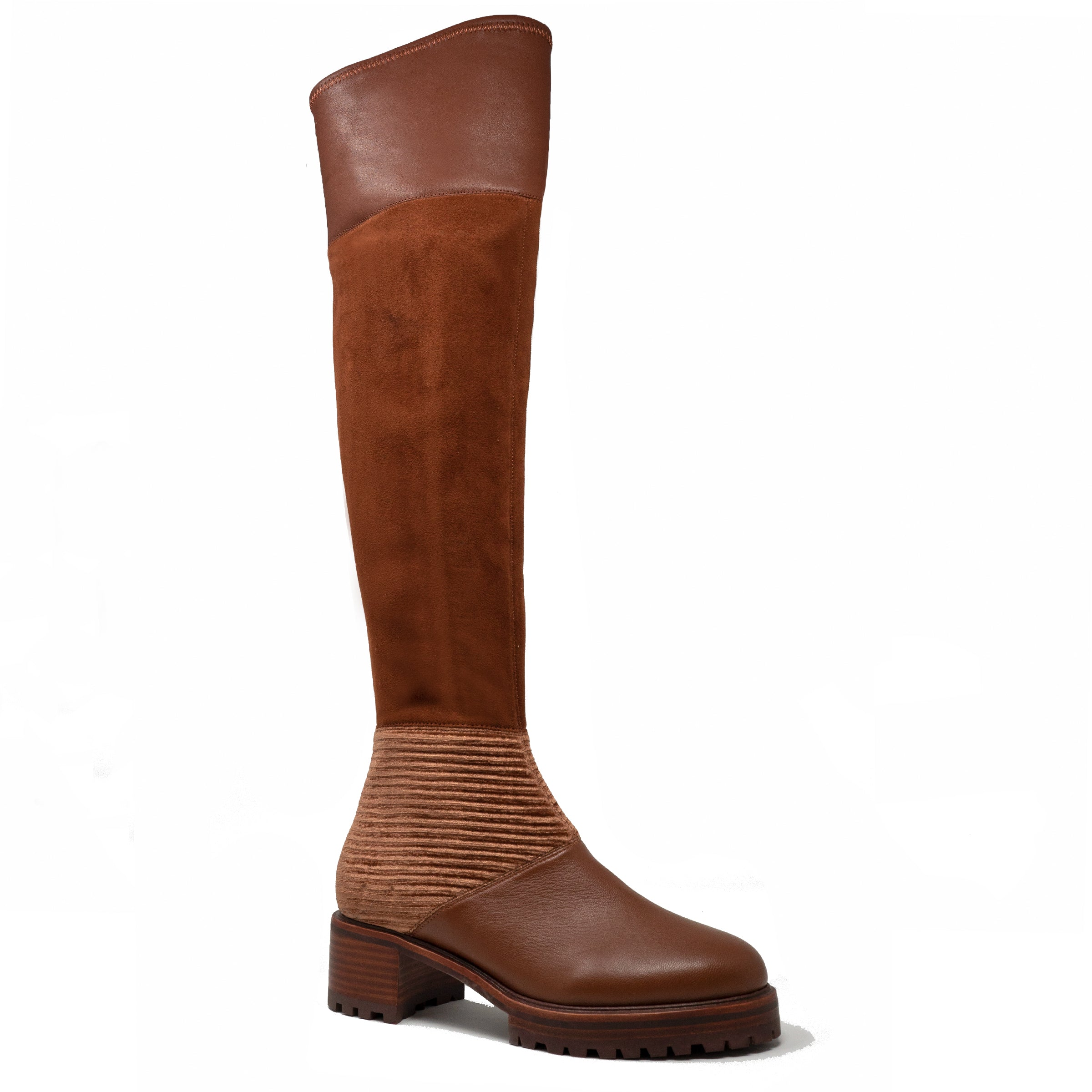 eda2f0f5d7e M4D3 Nakina Sienna Suede Lug Zip Up Over the Knee Boot – M4D3 Shoes