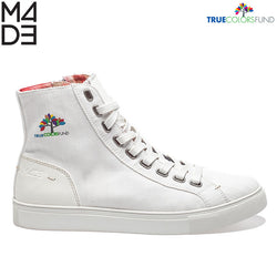 Cyndi True White Men's Hi Top