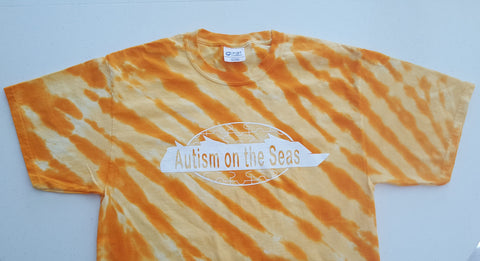 T-Shirt - Orange Tie-Dye with AotS Logo