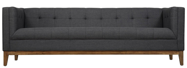 Gavin Linen Sofa in Grey - State.Mint Home & Garden