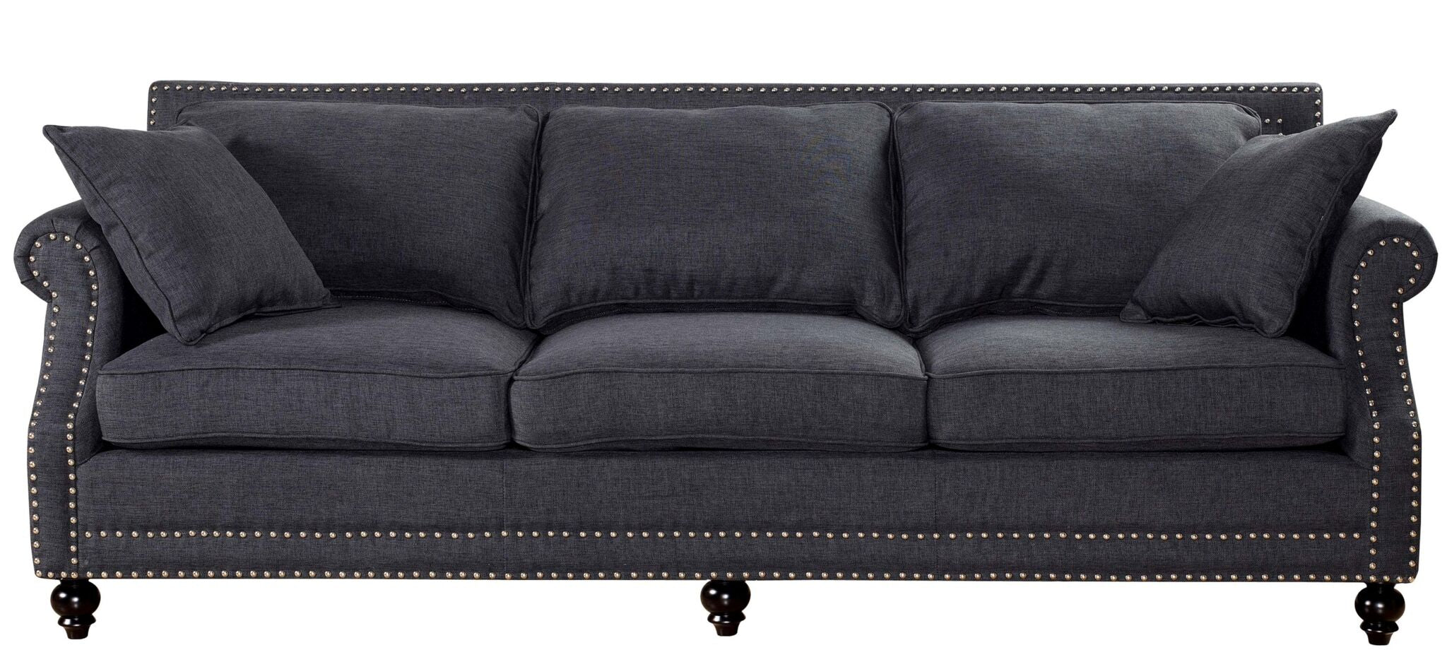 Camden Grey Linen Sofa - State.Mint Home & Garden