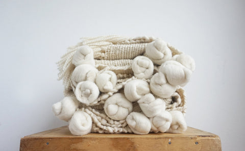 Chunky Natural Ecru Throw - State.Mint Home & Garden