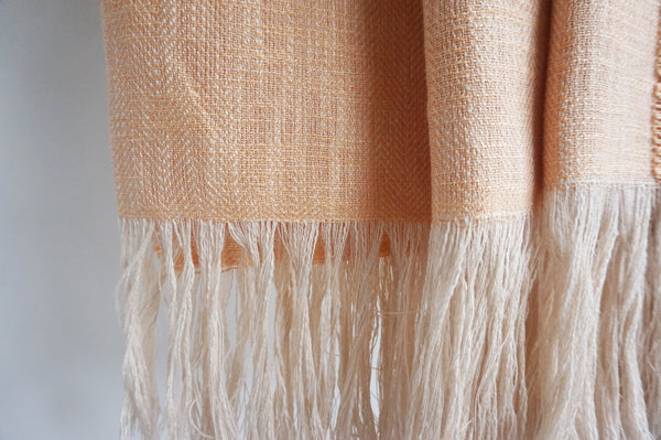 Pastel Peach Linen Throw Blanket - State.Mint Home & Garden