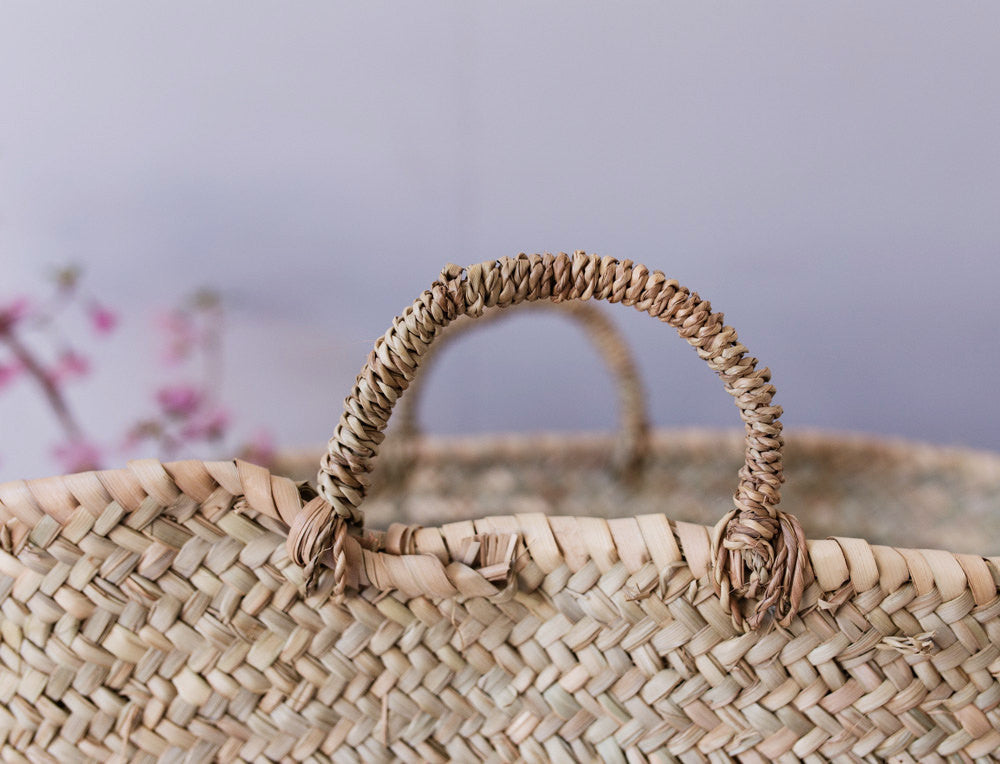 Woven Natural Straw Basket - State.Mint Home & Garden