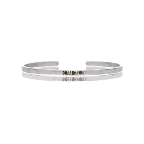 Bangle con swarovski negros