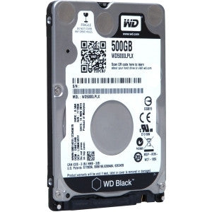 "WD 500GB Black Sata 6 32MB 2.5"" HDD"