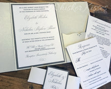 Silver Elegant Wedding Invitation - Deposit