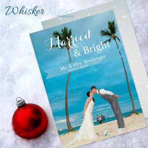 Married Christmas Cards - Set of 25